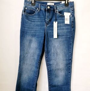 NWT Nicole Miller Straight Crop High Rise Jean 8